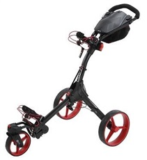 Big Max IQ 360 Golf Trolley, schwarz/rot