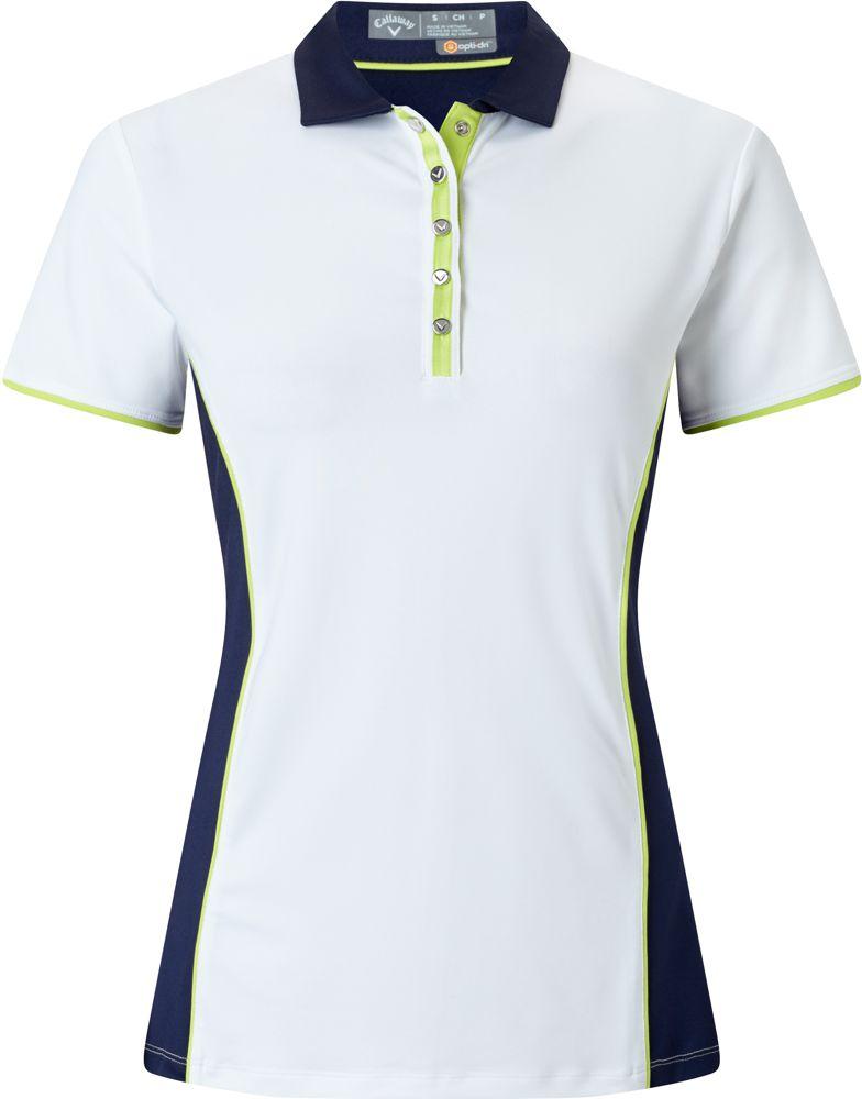 f084702fd158f9 Callaway Color Blocked Damen Poloshirt, weiss/blau   GolfBrothers.de