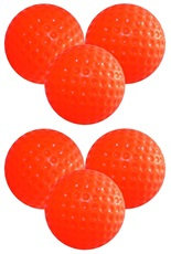 Longridge Trainingsbälle - Plastik - 6er Pack (orange)