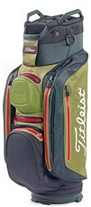 Titleist StaDry Deluxe Cartbag, schwarz/oliv/rot