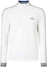 Callaway Textured Print Thermal Herren Sweatshirt, weiss
