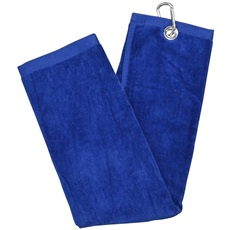 Longridge Luxury Three Fold Golf Handtuch, blau