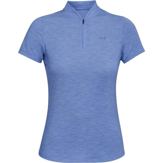 49583195898a Under Armour Threadborne Zip Damen Poloshirt, blau