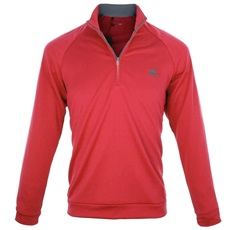 Adidas 3-Stripes 1/4 Zip Herren Sweatshirt, rot