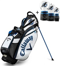 Callaway British Open Tour Staff Stand Bag + 3 Headcovers