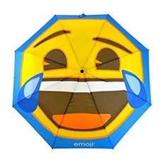 Emoji AutoFold Compact Golf Regenschirm, Face Laughing